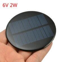 6V 2W 0.35A мини солнечной батареи из поликристаллического кремния солнечной Мощность 80 мм, Фурнитура для бижутерии, модуль виде незаполненного круга, Панели солнечные эпоксидная доска
