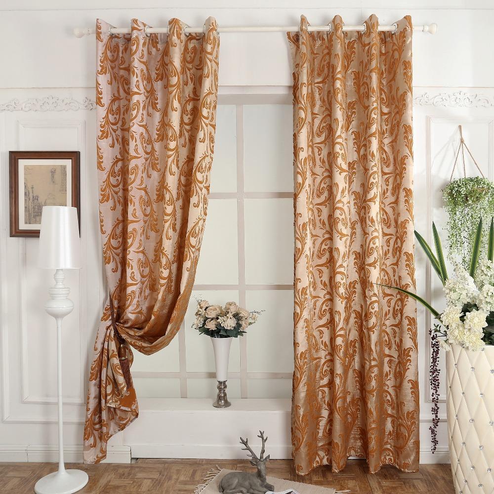 Aliexpress Com Buy Fabric Curtain Eyelets Flower Pattern