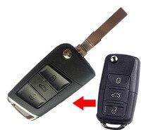 3 Buttons Modified Flip Remote Key Shell Case For Volkswagen VW Passat Polo Bora Lavida Santanta