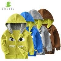 תמיר בנים ילדים תבנית מצחיק Cartoon Hoody צמר מעיל הלבשה עליונה ברדס מעיל ספורטיבי ילדי פרק 2-7 Y חולצות ביגוד