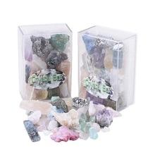 Geode Natural Multicolor Crystal Stones Green Fluorite Mix Crystals Ore Irregular Gemstones Amethyst Row Crafts