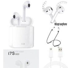 Xiomi ar vagens Fone de Ouvido Bluetooh Fone De Ouvido Estéreo de Música Sem Fio fone de Ouvido Fones de Ouvido Desportivos i7 TWS Para Apple iPhone 6 Xiaomi