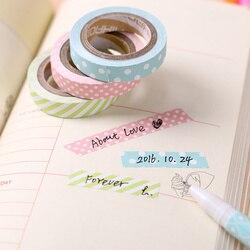 5 unidades/pacote cor dos doces arco-íris listrado pontos washi fita diy fita decorativa cor papel fitas adesivas