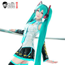 HSIU High Quality VOCALOID Cosplay Wig Hatsune Miku Costume Play Wigs Halloween party Anime Game Hair 150cm Aquamarine wig(China)
