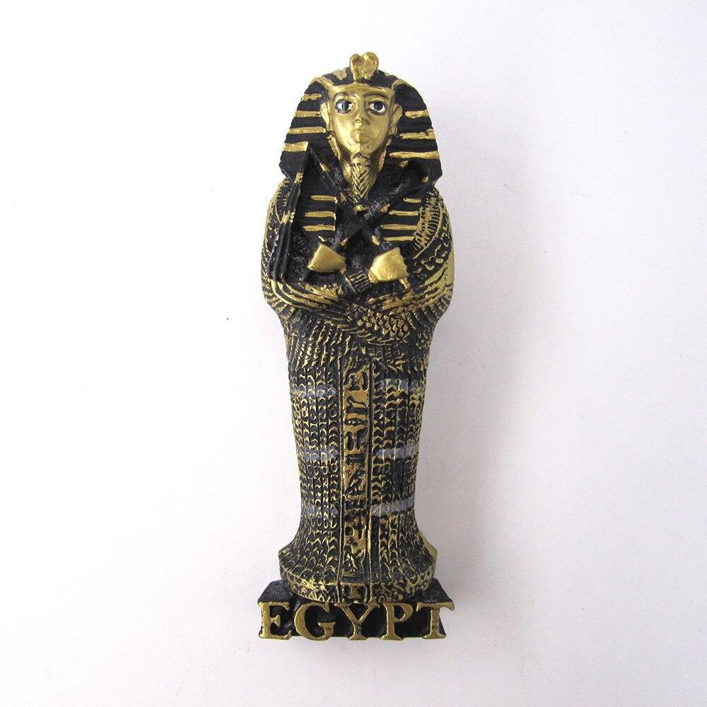 fridge magnet souvenir Ancient Egypt Countries Egyptian Pharaoh Handpainted 3D Resin refrigerator Magnets Sticker Crafts
