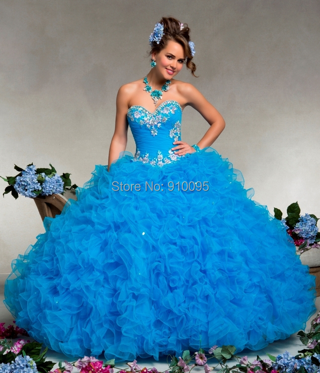 Sexy Blue Quinceanera Dresses Red Puffy Ball Gown Imported China ...