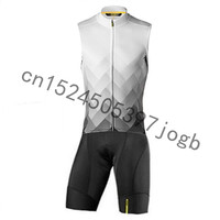 MAVIC Team Breathable sleeveless Cycling Skinsuit Man's Triathlon Bike Jersey Bicycle Jumpsuit set Ropa Ciclismo Hombre