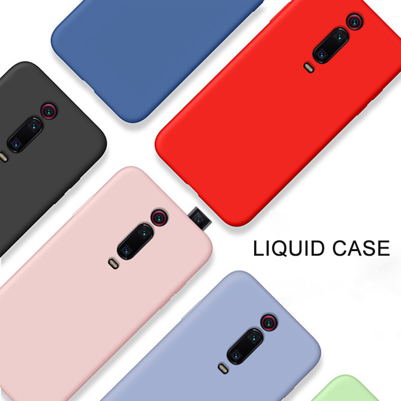 Liquid Silicone Rubber Slim Soft Case for Xiaomi mi 9T MI9T Case Color Shockproof Full Cover for Xiaomi Redmi K20 Pro Case in Fitted Cases from Cellphones Telecommunications