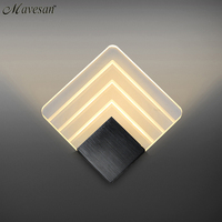Modern LED Wall Lamp For Bathroom Bedroom 6W Wall Sconce White Indoor Lighting Lamp AC85 265V
