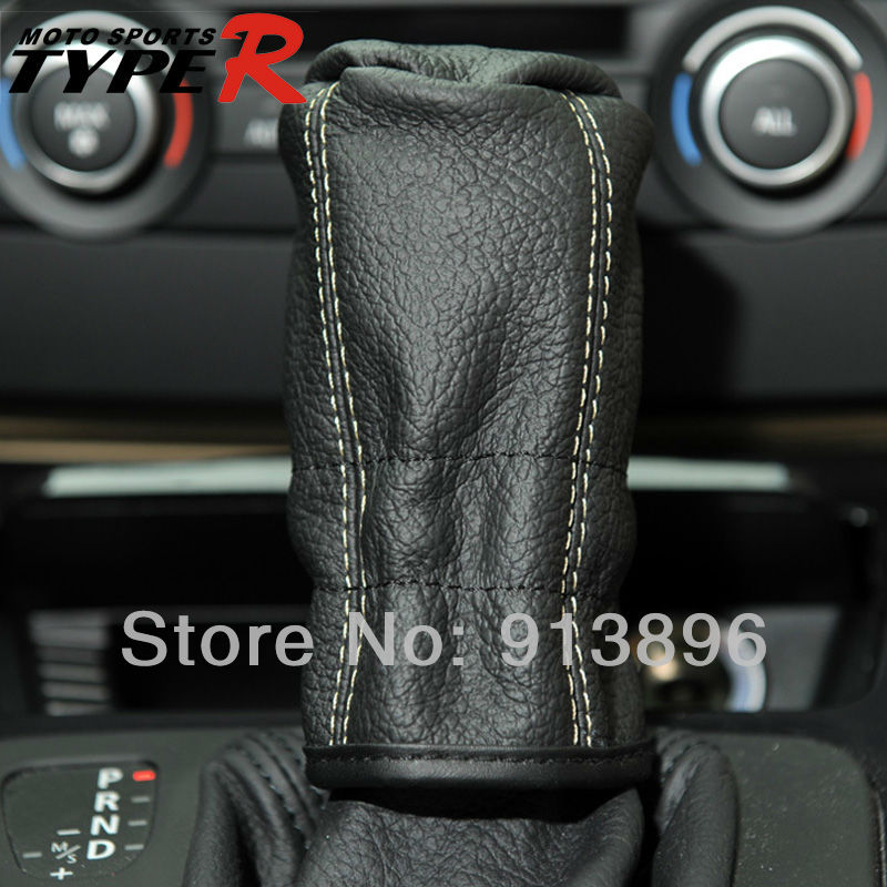 Dog Gear Shift Knobs : Typer universal car leather manual gear shift knob cover
