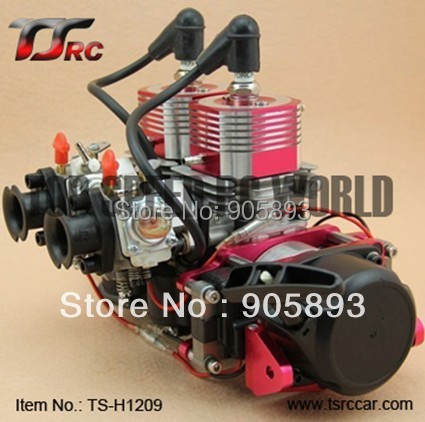 Free Shipping 52cc or 58cc twin cylinder R C Boat gas Engine