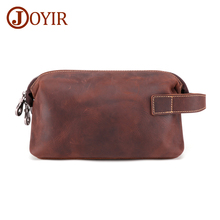 цена на JOYIR Genuine Leather Clutch Wallet Men Long Leather Phone Bag Purse Male Large Capacity Wallet Card Holder Money Bag HandBag
