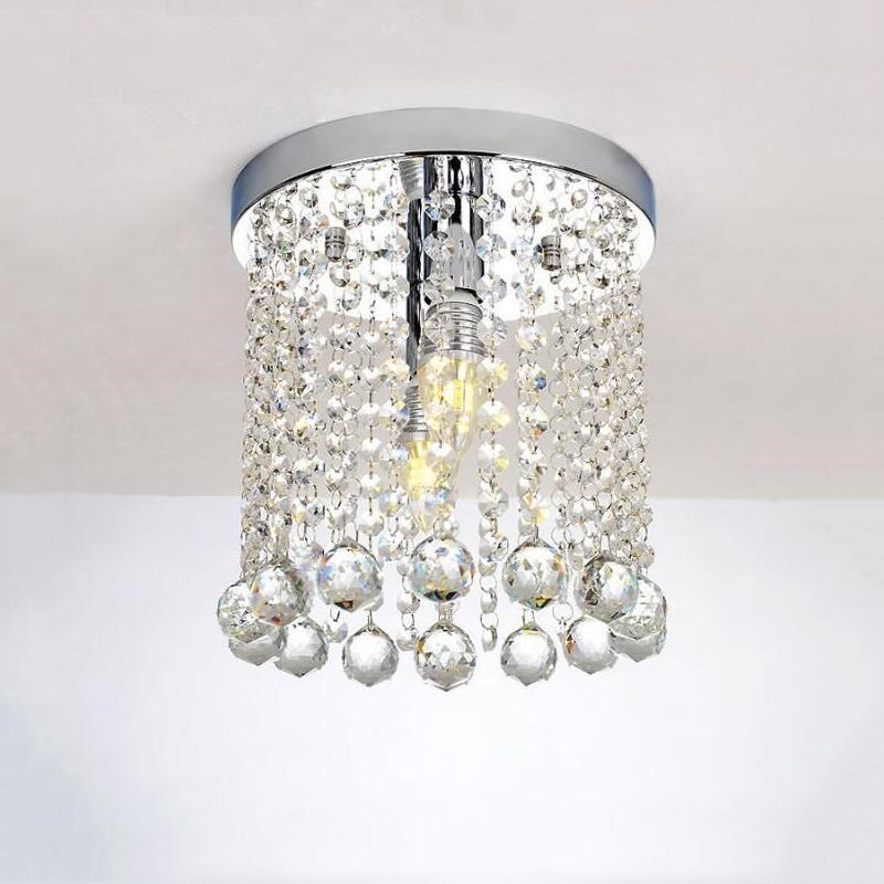 Modern Crystal Ceiling light chrome lustre LED crystal lamp Ceiling lights Lighting Fixture Pendant Ceiling Lamp Crystal цена