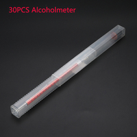30PCS Alcoholmeter Alcohol Meter 0 100 Thermometer Wine Concentration Meter Vodka Whiskey Hydrometer Tester Vintage Tools