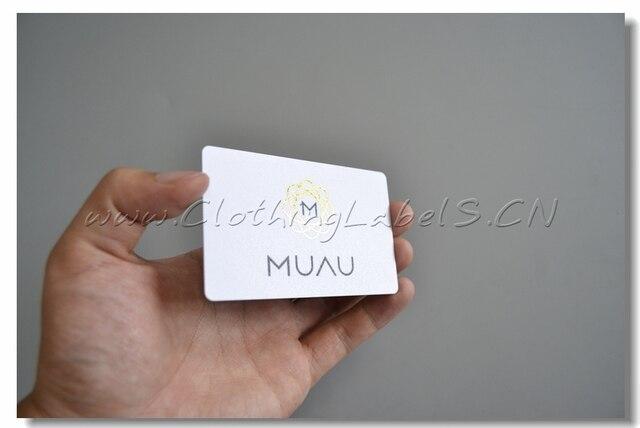 Blanc PVC Carte De Visite En Plastique Avec Couleur Or Estampage