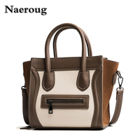 2018 Newest Famous Designer Brand Luxury Women Leather Handbags Fashion Smile Face Tote Quality Trapeze Smiley