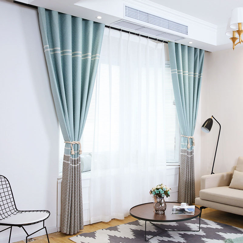 Curtains for Living Dining Room Bedroom Rainbow Fabric ...