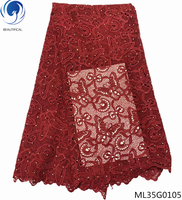 BEAUTIFICAL african guipure laces butterfly pattern cord lace nigerian lace fabric milk silk with rhinestones ML35G01