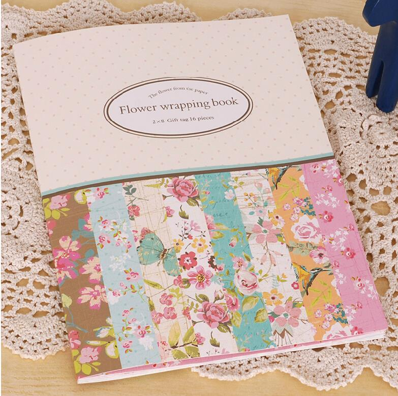 16 sheets of mini gift pattern wrapping paper book 8 designs 16 sheets of mini gift pattern wrapping paper book 8 designs flower gift wrap paper kit mightylinksfo