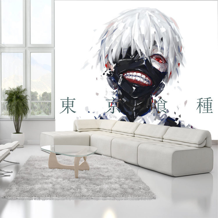 Japanese Anime Photo Wallpaper Wallpaper Tokyo Ghoul 3d Silk Wall Mural Art Boys Kid Room Decor Bedroom Cartoon Home Decoration Photo Wallpaper Wall Muralwallpaper Photo Aliexpress