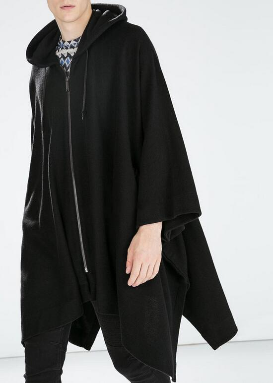 S-4XL Hot 2019 Spring/autumn Male New Fashion Tassel Hooded Cape Coat Bats Unlined Upper Garment Of Long Cloak Trench Coat