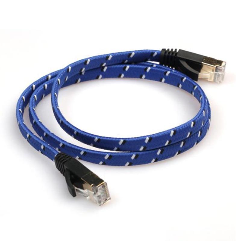 CAT-7 LAN Network 10 Gigabit Modem Router Weave Ethernet Cable 3m