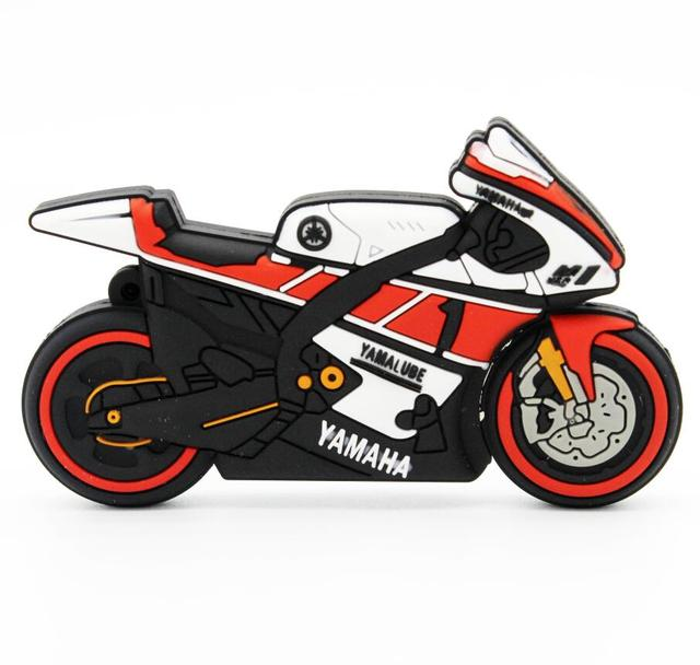 Motorcycle pen drive keychain USB stick