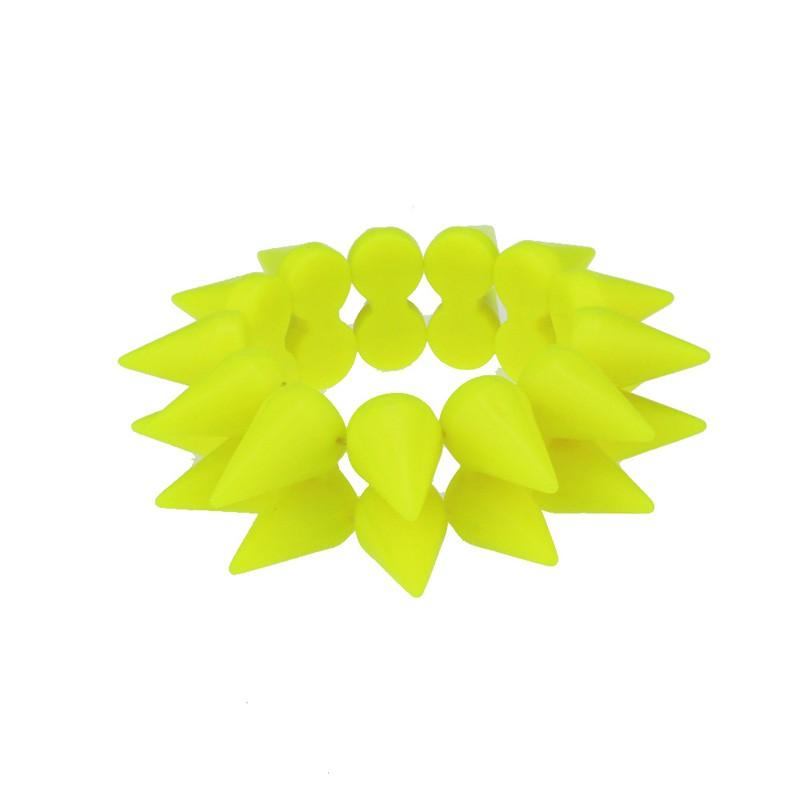 панк-рок Texture двойной флуоресцентные цвета заклепки браслет s5301
