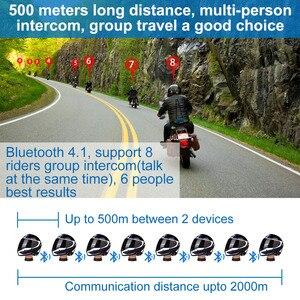 Image 3 - Fodsports M1 S Pro kask interkom kulaklık motosiklet su geçirmez interkom Bluetooth interkom 8 binici 2000M Intercomunicador
