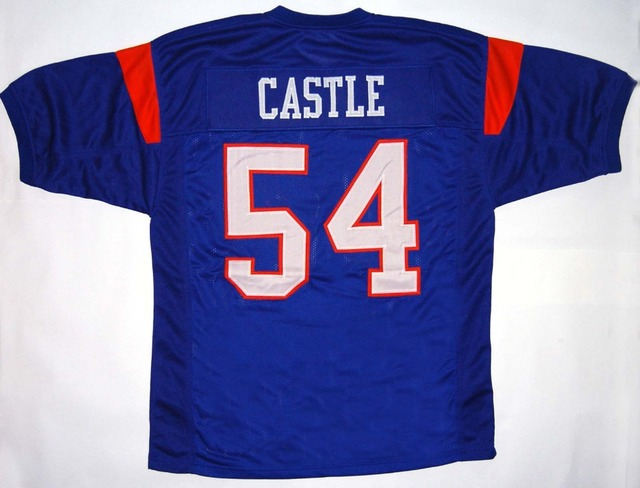c2a9f7d035e #54 Kevin Thad Castle Jersey,#7 Alex Moran Jerseys,White Stitched Blue  Mountain State Movie Jersey S-3XL Free shipping