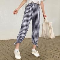 2018 Summer New Women Korean Version Small Fresh Loose Thin Section Leisure Pants High Waist Thin