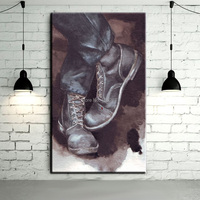 Wholesale Low Price High Quality Professional Artist Design Unique Wall Decor Handmade Shoes Oil Painting On