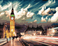 Westminster Night.painting by numbers kit.acrylic.40cmx50cm