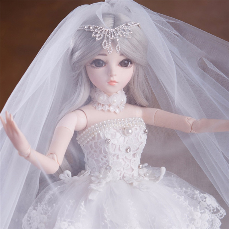 60CM Elegant 1/3 BJD Doll With Outfit Dress Shoes Wigs Makeup Dolls Wedding Dress Girls Toys For Collection Reborn Doll60CM Elegant 1/3 BJD Doll With Outfit Dress Shoes Wigs Makeup Dolls Wedding Dress Girls Toys For Collection Reborn Doll