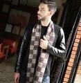 Cachecol bufanda diseñador de la marca de Los Hombres Bufanda de Cachemira Clásico de Invierno Caliente Suave Borla étnicos bufandas del abrigo del Mantón Bufanda de la marca de lujo