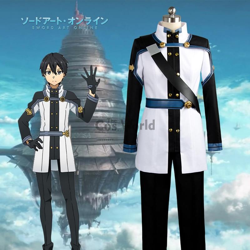 Sword Art Online SAO Movie: Ordinal Scale Kirigaya Kazuto Kirito Coat Tops Pants Uniform ...