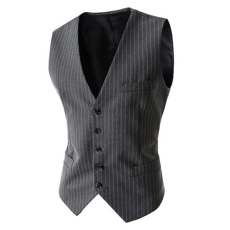 Zogaa New Arrival Vests For Men Slim Fit Mens Suit Vest Male Waistcoat Business Slim Fit Vest Solid Color Sleeveless Colete