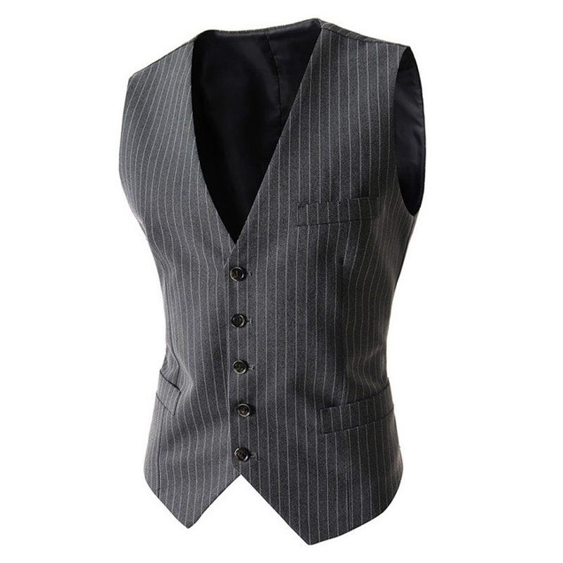 Zogaa New Arrival Vests For Men Slim Fit Mens Suit Vest Male Waistcoat Business Slim Fit Vest Solid Color Sleeveless Colete