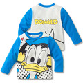 Autumn Children Long Sleeve T-shirt Kids Boys Girls Cartoon Donald Duck Minnie Mouse Cotton T-shirt Tops Tees Baby Clothing
