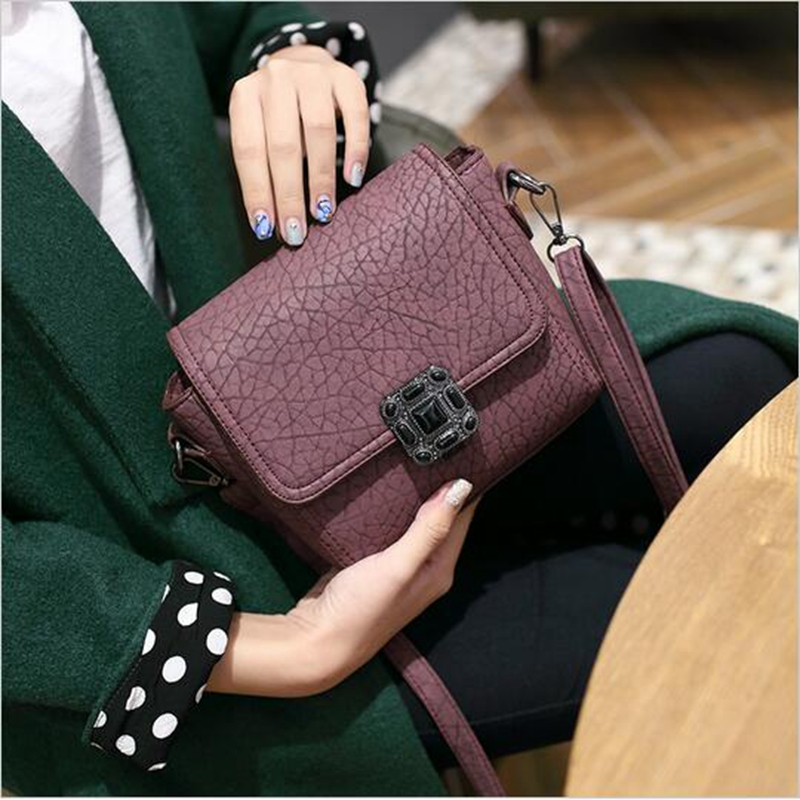 Small Vintage Casual Leather Handbags High Quality bag ladies Purses Clutch Bag Women Messenger Shoulder Crossbody Bags Bolsos instantarts vintage skull handbags women high quality leather shoulder tote bag designer female casual messenger bags for ladies