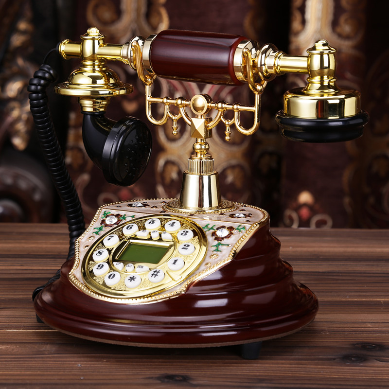 Ye are the top antique telephone European Garden retro home phone office phone caller ID Dial number Decoration home Rotate