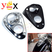 Motorcycle Speedometer Instrument Gauge Cover Guard Fuel Tank Cap Housing Shell Decal For Honda Shadow ACE VT400 VT750 1998 2003