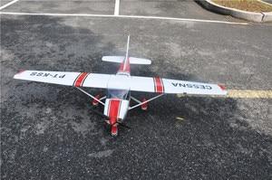 Image 5 - RC מטוס ססנה 182 אדום בלזה עץ קבוע כנף מטוסי ARF
