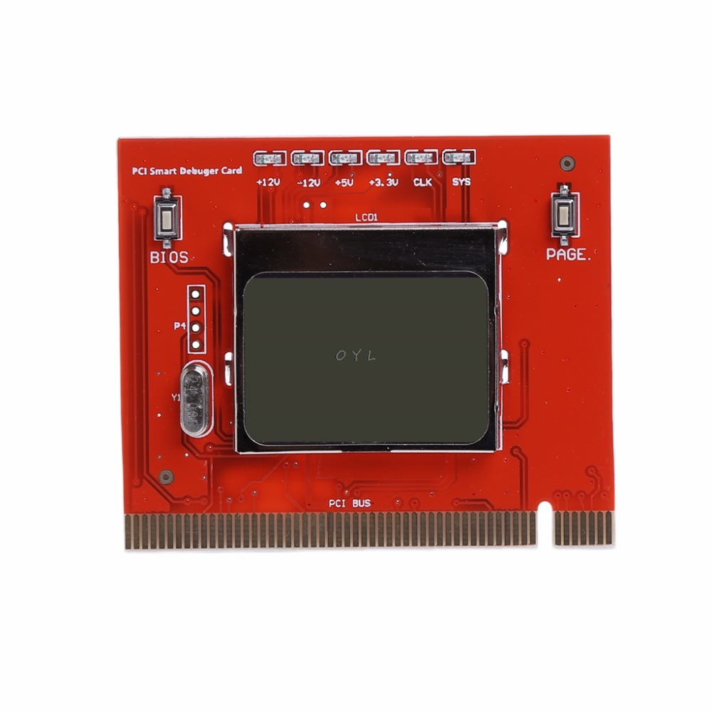 PC LCD PCI Display Computer Analyzer Motherboard Diagnostic Debug Card Tester For PC Laptop Desktop