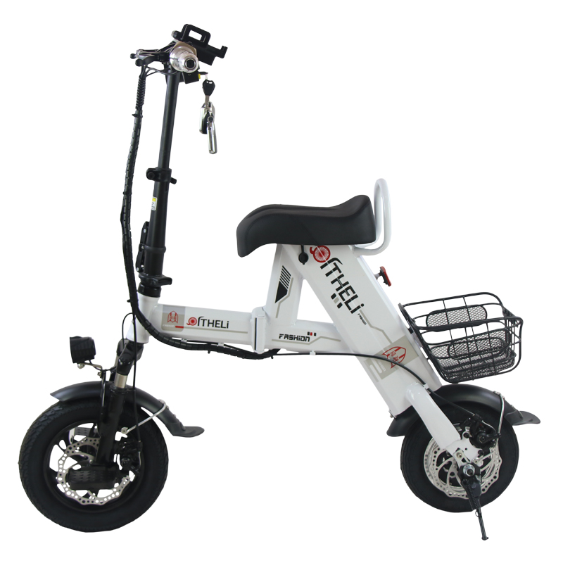 Perfect folding electric bike parent-child electric bicycle 12inch 2 people Folding portable ebike lithium battery electric bicycle 2