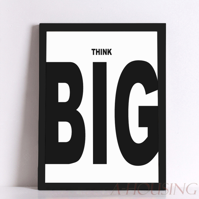 Quote Think Big Quote Canvas Art Print Poster, Wall Pictures for ...