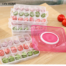 LVV HOME 4 layers Durable hot snack Food Storage box home kitchen tools Convenient Bilayer basket