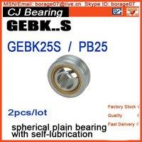 GEBK25S Radial Spherical Plain Bearing With Self Lubrication Bronze Liner PB25