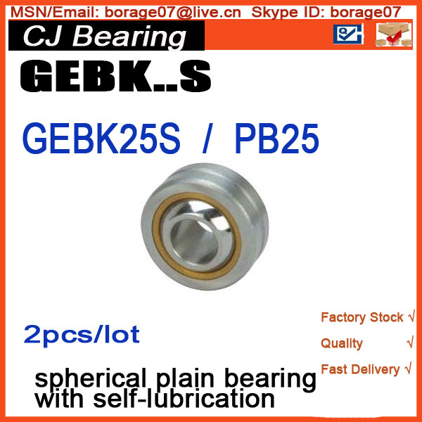 GEBK25S Radial spherical plain bearing with self-lubrication / Bronze liner PB25 zokol bearing ge40es radial spherical plain bearing 35 55 25 20 mm