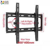 Tilt uchwyt ścienny na tv dla większości 26-55 cali LED, LCD, OLED płaski ekran TVs do 110lbs z VESA 100x100mm do 400x400mm